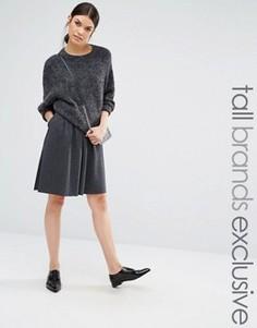 Плиссированная юбка миди Y.A.S Tall Evita - Серый