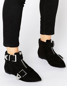 Ботинки с пряжкой ASOS ACAMAR - Черный