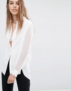 Рубашка с зеркальными вставками Religion - Белый
