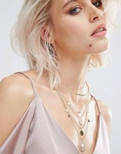 Изысканное многорядное ожерелье‑чокер с дисками Glamorous - Золотой