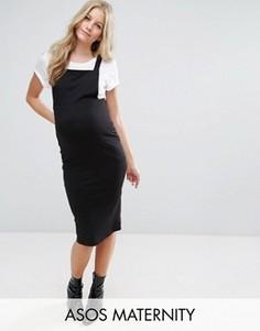 Платье-сарафан для беременных ASOS Maternity Column - Черный