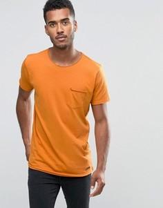 Однотонная футболка с необработанным краем Brave Soul - Оранжевый