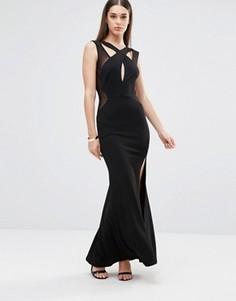 Платье макси с вырезами TFNC - Черный