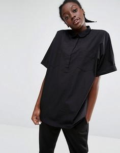 Рубашка с карманом Monki - Черный