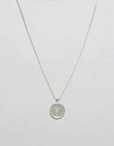 Серебристое ожерелье с медальоном Chained & Able - Серебряный