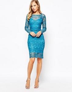 Платье цвета топаза Body Frock Lisa - Синий
