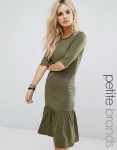 Платье с оборкой по краю Noisy May Petite Melanie - Зеленый