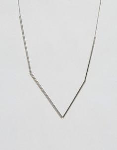 Ожерелье с подвеской-трубочкой Weekday - Серебряный