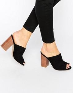 Сабо на блочном каблуке New Look - Черный