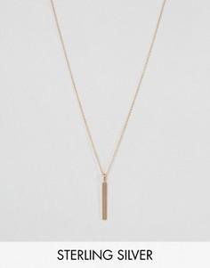 Покрытое розовым золотом ожерелье с минималистичной подвеской Pieces & Julie Sandlau Juna - Золотой