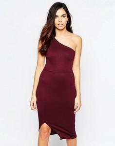Облегающее платье миди на одно плечо Twin Sister - Фиолетовый