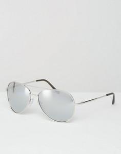 Солнцезащитные очки‑авиаторы с зеркальными стеклами Missguided - Серебряный