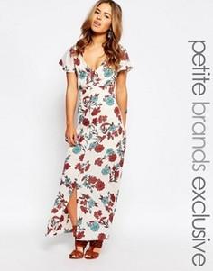 Платье макси с вырезами и цветочным принтом Glamorous Petite - Мульти