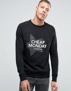Свитшот со звездой Cheap Monday Rules - Черный