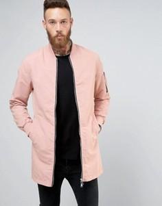 Длинная куртка на молнии Brave Soul - Розовый