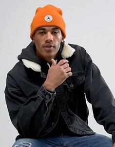 Оранжевая шапка-бини с помпоном Converse CON088 - Оранжевый