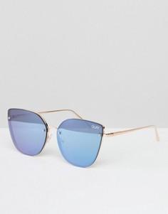 Солнцезащитные очки кошачий глаз Quay Australia Lexi - Золотой
