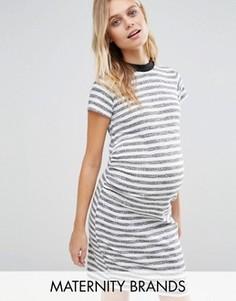 Платье-футболка в полоску Bluebelle Maternity - Мульти