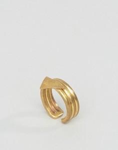 Кольцо с треугольником Made - Золотой