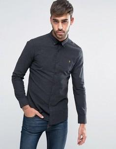Темно-серая узкая оксфордская рубашка Farah - Серый