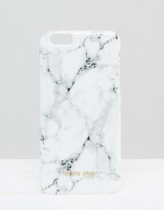 Белый чехол для iPhone 6/6s с мраморным принтом Happy Plugs Carrara - Мульти