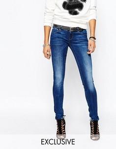 Супероблегающие джинсы с заниженной талией G Star Be Raw 3301-A - Синий