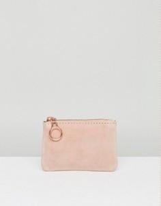 Замшевый кошелек для монет Pieces - Розовый