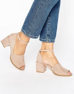 Туфли на каблуке ASOS ONE WAY - Розовый