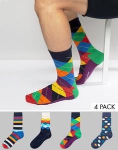 Подарочный набор из 4 пар носков Happy Socks - Мульти