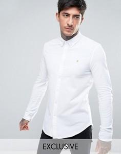 Белая трикотажная рубашка эксклюзивно для Farah - Белый
