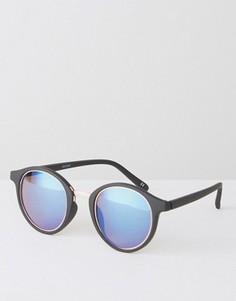 Круглые черные солнцезащитные очки ASOS - Черный