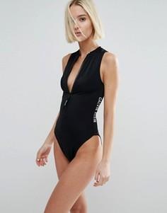 Слитный купальник Calvin Klein - Черный
