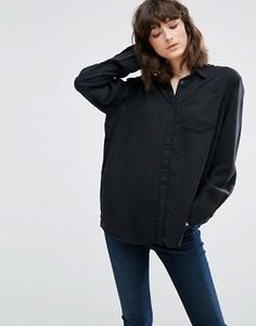 Джинсовая рубашка Weekday - Черный