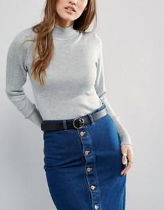 Ремень для джинсов Pieces Malulu - Черный