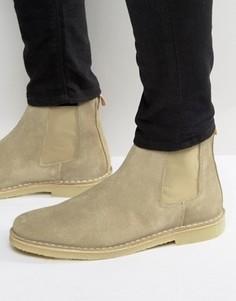 Замшевые ботинки челси Selected Homme Royce - Бежевый