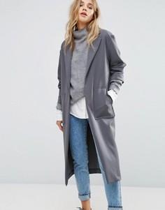 Мягкое легкое пальто New Look - Серый