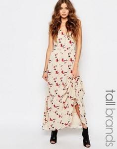 Платье макси на пуговицах с цветочным принтом Y.A.S Tall - Мульти