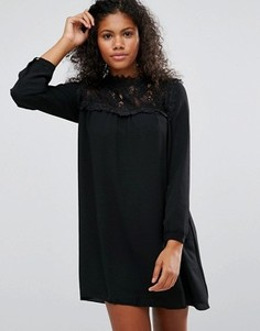 Платье с кружевом Brave Soul - Черный