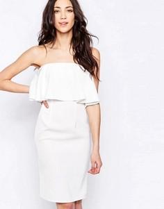 Платье-бандо с оборкой Glamorous - Белый