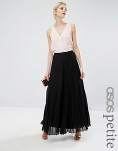 Плиссированная юбка макси ASOS PETITE - Черный
