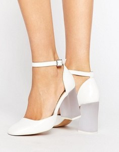 Туфли на высоком блочном каблуке ASOS PRIMA DONNA - Белый