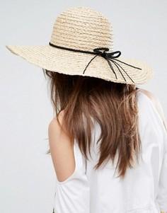 Широкополая шляпа с плетеной лентой ASOS - Коричневый