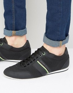 BOSS Green by Hugo Boss Lighter Tape Trainers - Черный