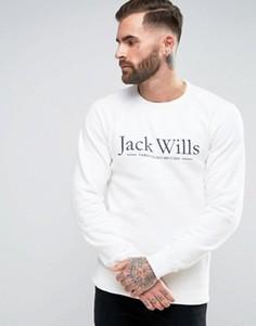 Белый свитшот с логотипом на груди Jack Wills - Белый