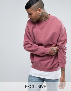 Reclaimed Vintage Inspired Oversized Sweatshirt In Pink Overdye - Розовый