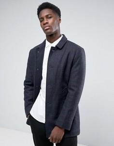 Шерстяное пальто Selected - Темно-синий