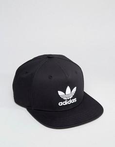 Черная бейсболка с логотипом-трилистником adidas Originals BK7324 - Черный