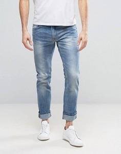 Светлые винтажные узкие джинсы Blend Twister - Синий