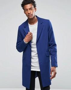 Легкое темно-синее пальто ASOS - Темно-синий