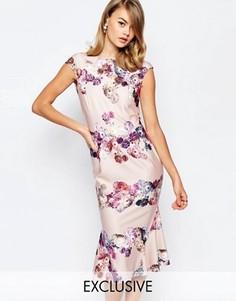 Платье-футляр с цветочным принтом True Violet - Мульти